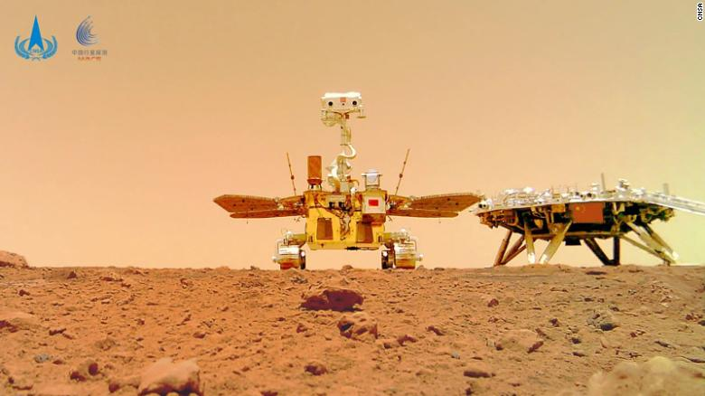 China releases new images of Mars taken by its Zhurong rover