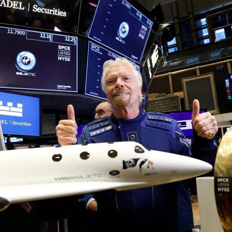 Billionaire Branson goes into space on a VSS Unity rocket plane
