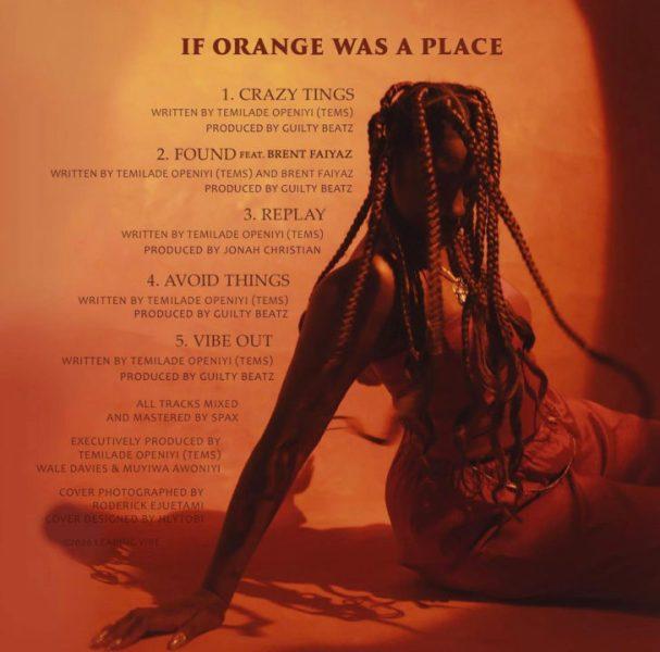 If Orange Was A Place Tracklist