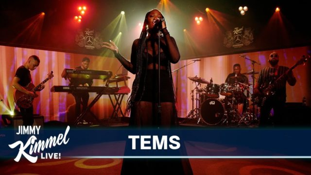 """Tems Performs """"Avoid Things"""" off New EP on Jimmy Kimmel Live"""